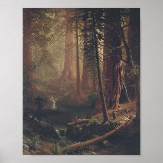 Poster Séquoias géants par Albert Bierstadt