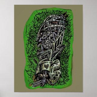 Poster Sergent de zombi, par Brian Benson,