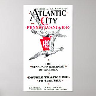 Poster Service 1904 d'Atlantic City de chemin de fer de