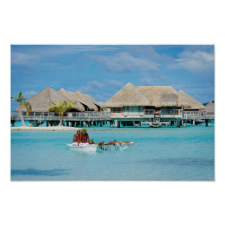Poster Service de petit déjeuner de style de Bora Bora en