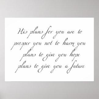 """Poster """"Ses plans pour vous"""" affiche minimale graphique"""
