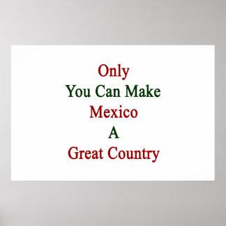 Poster Seulement vous pouvez faire au Mexique un grand