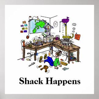 Poster Shack se produit affiche drôle de Radio Shack de