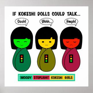 Poster Si les poupées de Kokeshi pourraient parler