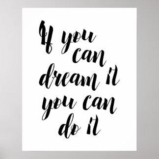 Poster Si vous pouvez le rêver vous pouvez le faire