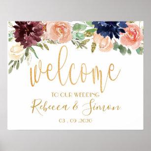 Rustique Tournesols Vintage personnalisé toute formulation bienvenue à Notre Mariage Signe