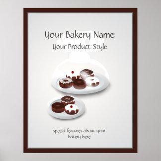 Poster Signe d'atelier de boulangerie de beignet