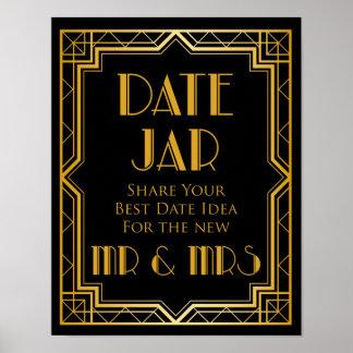 Poster Signe de mariage - signe de mariage de Gatsby de
