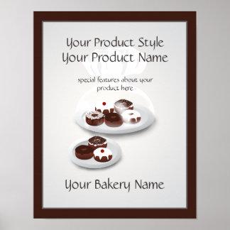 Poster Signe de produit de magasin de Baker de