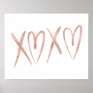 Poster Signe rose balayé moderne d'affiche de Valentine