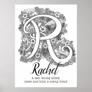 Poster Signification nommée de Rachel d'art