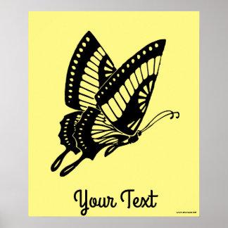 Poster Silhouette de papillon