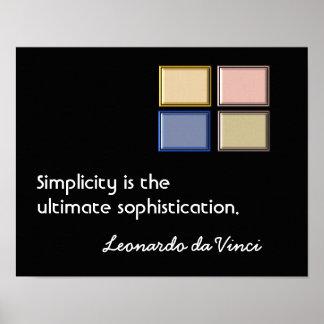 Poster Simplicité et sophistication - copie d'art