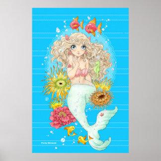 Poster Sirène (bleue)