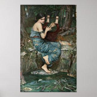 Poster Sirène jouant la musique pour des marins