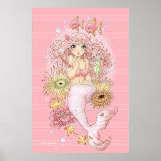 Poster Sirène (rose)