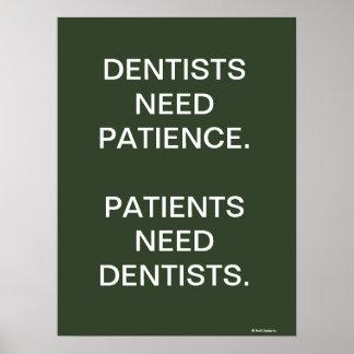 Poster Slogan humoristique plein d'esprit de dentiste