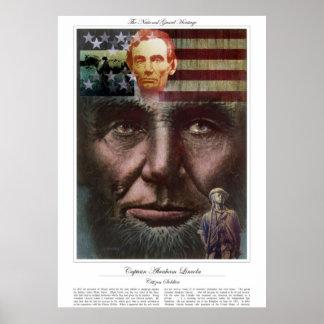 Poster Soldat de citoyen de CAPITAINE ABRAHAM LINCOLN
