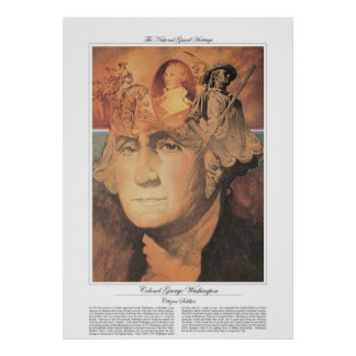 Poster Soldat de citoyen de COLONEL GEORGE WASHINGTON