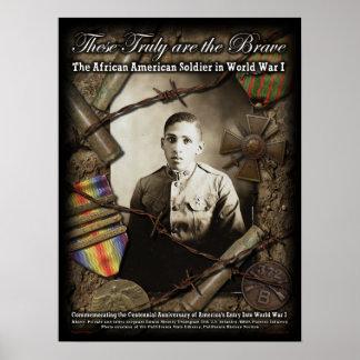 Poster Soldats d'Afro-américain en affiche de la guerre