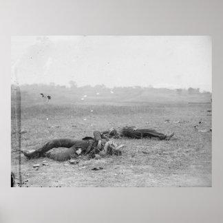 Poster Soldats rebelles comme ils sont tombés près du