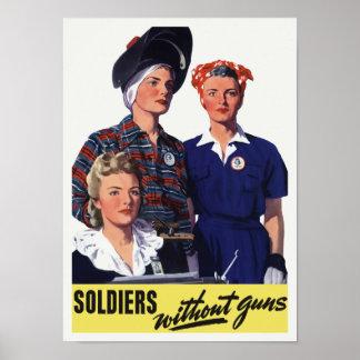 Poster Soldats sans armes à feu - travailleurs de guerre