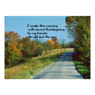 Poster Souhaits de thanksgiving
