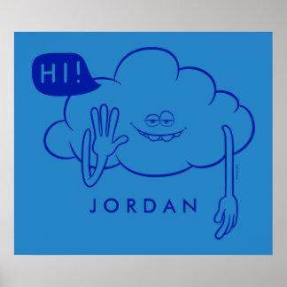 Poster Sourire de type de nuage des trolls  