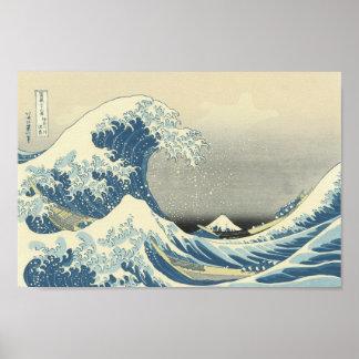 Poster Sous la vague outre de Kamagawa