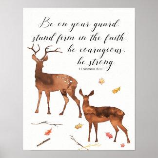 Poster Soyez sur votre garde, soyez courageux, soyez fort