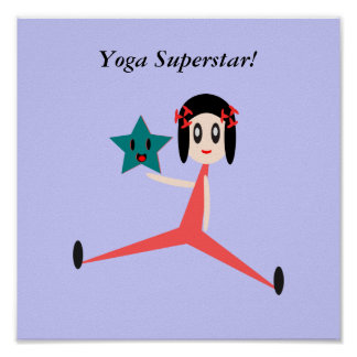 Poster Soyez un superstar de yoga