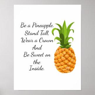 Poster Soyez une affiche d'ananas