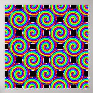 Poster Spirale d'arc-en-ciel par Kenneth Yoncich