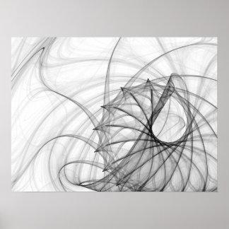 Poster Spirales et épines d'encre