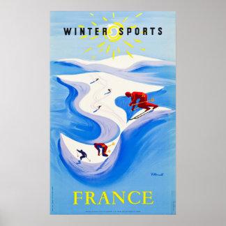 Poster Sports d'hiver d'affiche de voyage de la France…