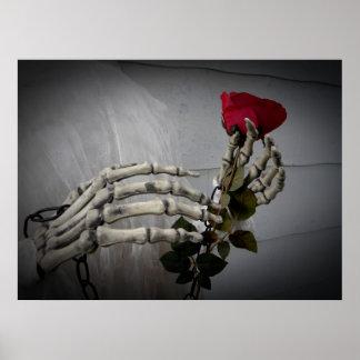 Poster Squelette de jour de Valentines