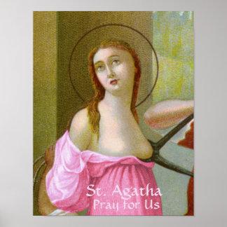 Poster St rose Agatha (M 003)