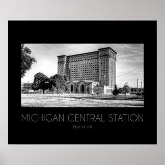 Poster Station de central du Michigan