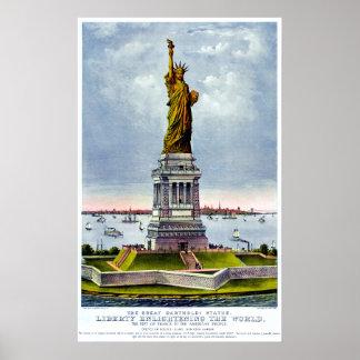 Poster STATUE de ~ d'Ives de LIBERTÉ)