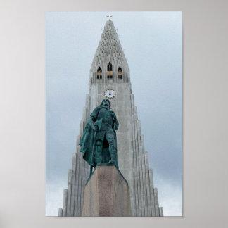 Poster Statue de Leif Erikson, Islande