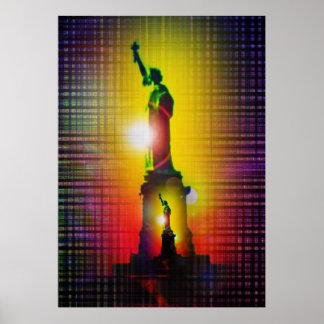 Poster Statue de liberté - statue of Liberty