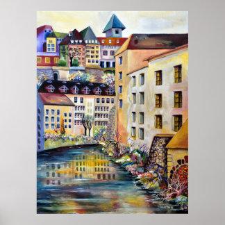 Poster Stockholm, Gamla Stan, vieille ville