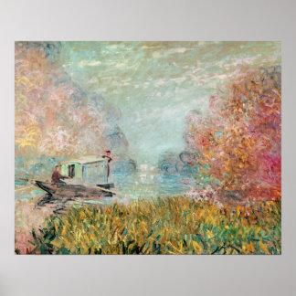 Poster Studio de bateau de Claude Monet | sur la Seine