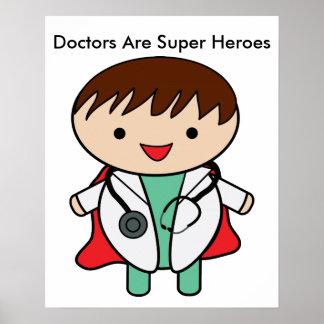 Poster Superhéros de médecins Are faits sur commande