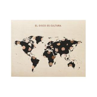 Poster Sur Bois Affiche de la disco es Cultura d'EL
