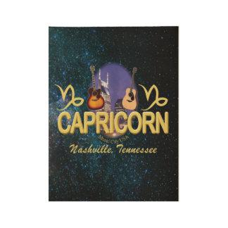 """Poster Sur Bois Capricorne de Nashville, 19"""" x 14,5 """""""