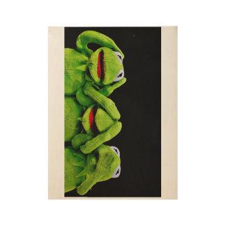 """Poster Sur Bois Kermit la grenouille """"je n'ai entendu rien"""