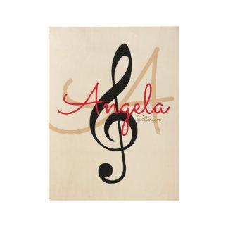 Poster Sur Bois la musique a inspiré le monogramme