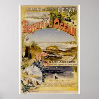 Poster Sur L'Ocean de Royan près de la plage