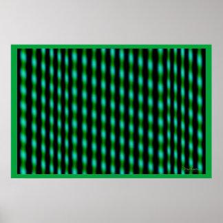 Poster Surface verte agitée